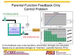 parental function feedback only control problem