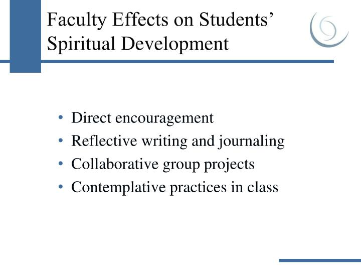 Faculty Effects on Students' Spiritual Development