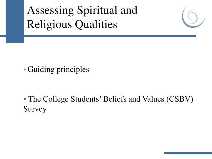 Assessing Spiritual and