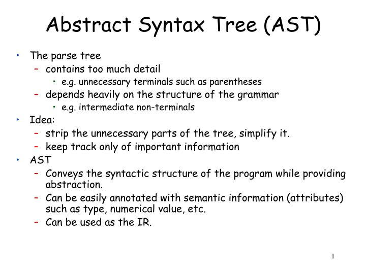 Abstract syntax tree ast