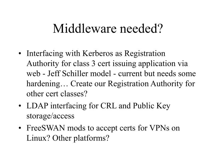 Middleware needed?