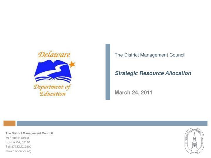 The District Management Council