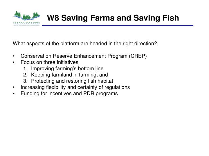 W8 Saving Farms and Saving Fish