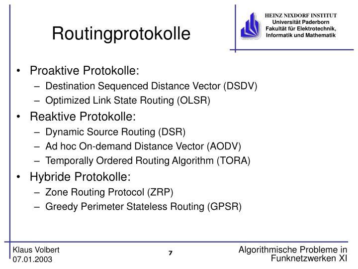 Routingprotokolle