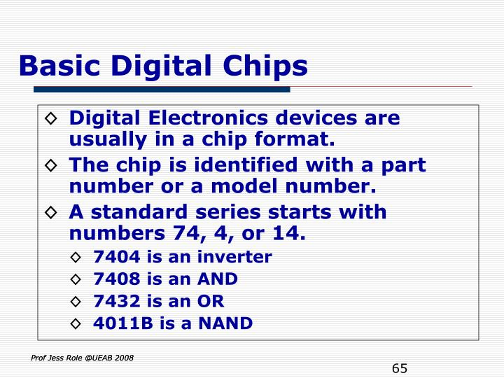 Basic Digital Chips