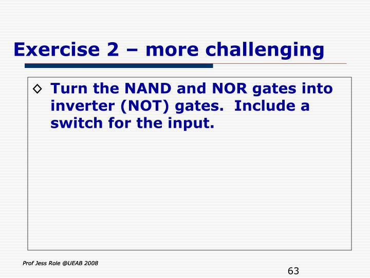 Exercise 2 – more challenging