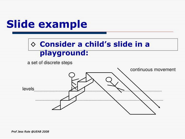Slide example