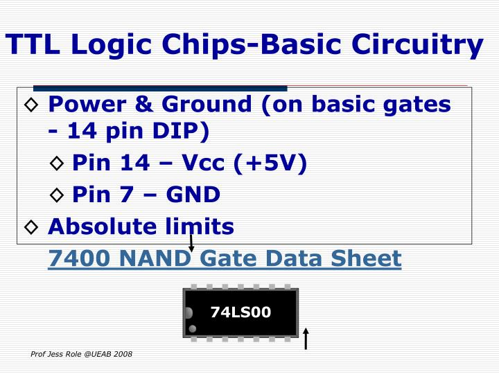 TTL Logic Chips-Basic Circuitry