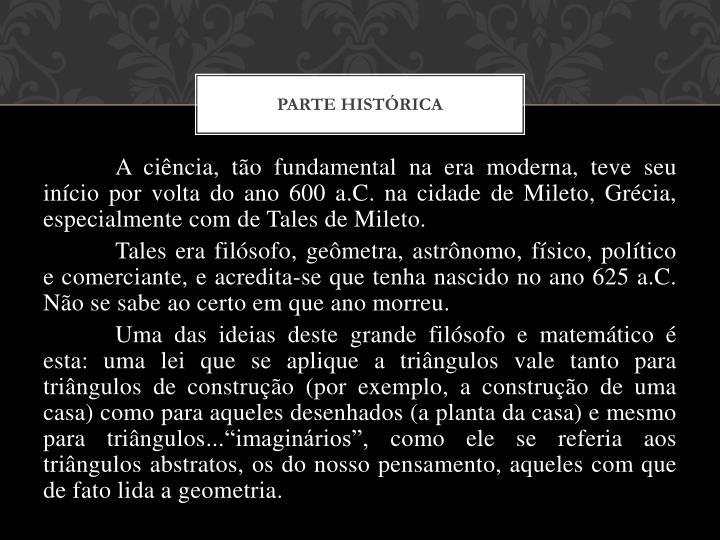 PARTE HISTÓRICA