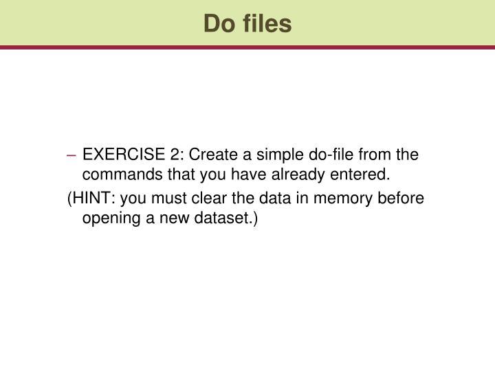 Do files