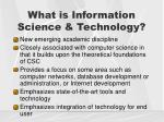 what is information science technology