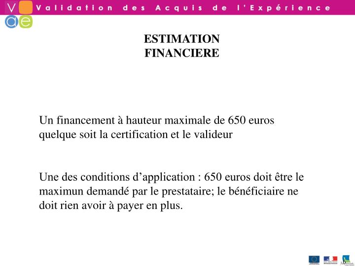 ESTIMATION FINANCIERE
