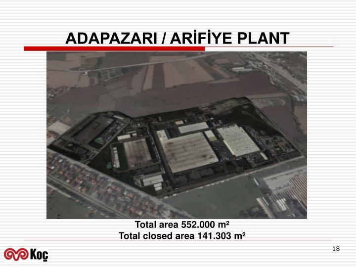 ADAPAZARI / ARİFİYE