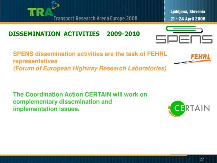 DISSEMINATION  ACTIVITIES    2009-2010