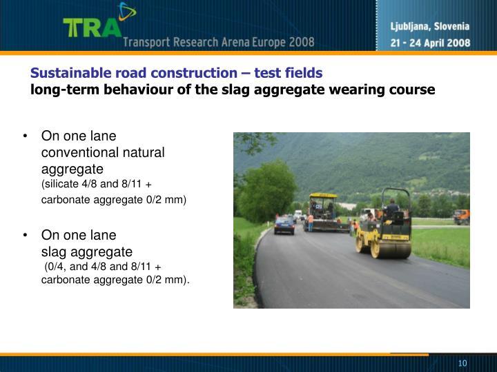 Sustainable road constructio