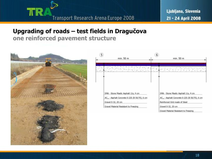 Upgrading of roads – test fields in Dragučova