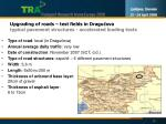 upgrading of roads test fields in dragu ova typical pavement structures accelerated loading tests