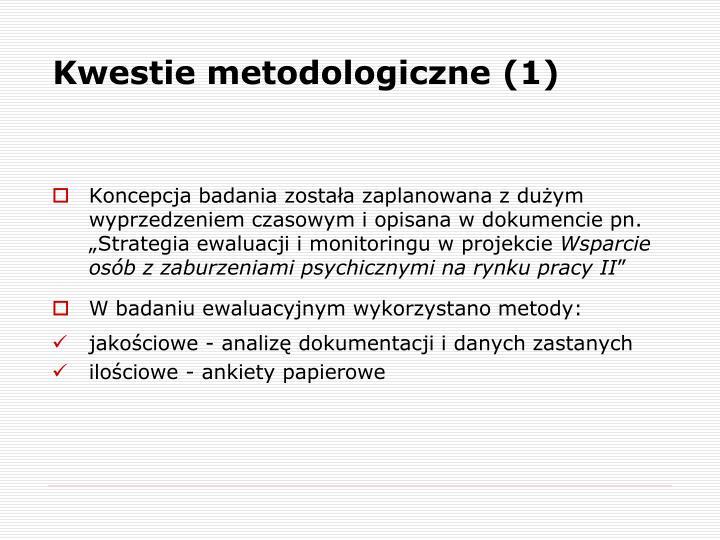 Kwestie metodologiczne (1)