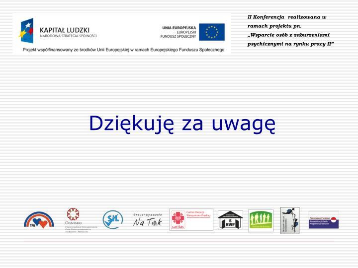 II Konferencja  realizowana w ramach projektu pn.