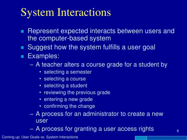 System Interactions