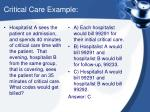 critical care example