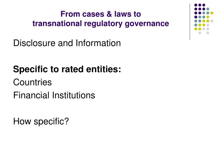 From cases & laws to