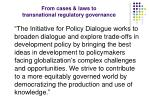 from cases laws to transnational regulatory governance6