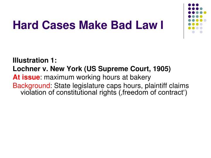 Hard Cases Make Bad LawI