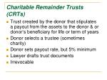 charitable remainder trusts crts