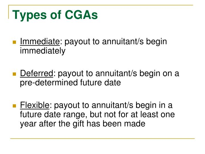 Types of CGAs