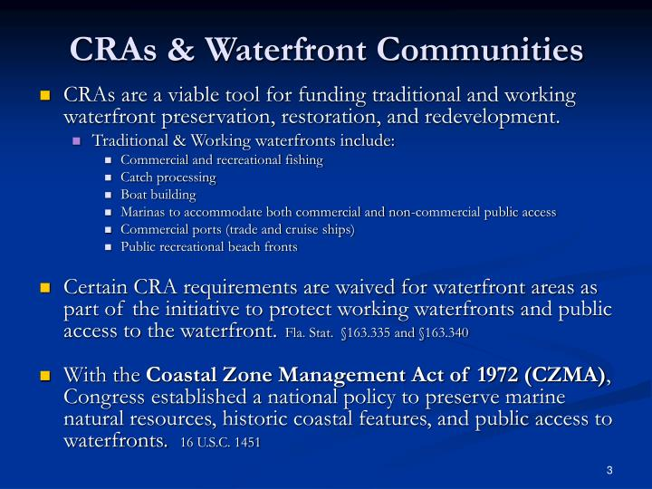 Cras waterfront communities