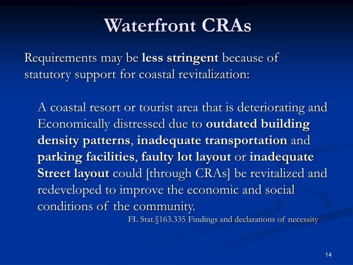 Waterfront CRAs