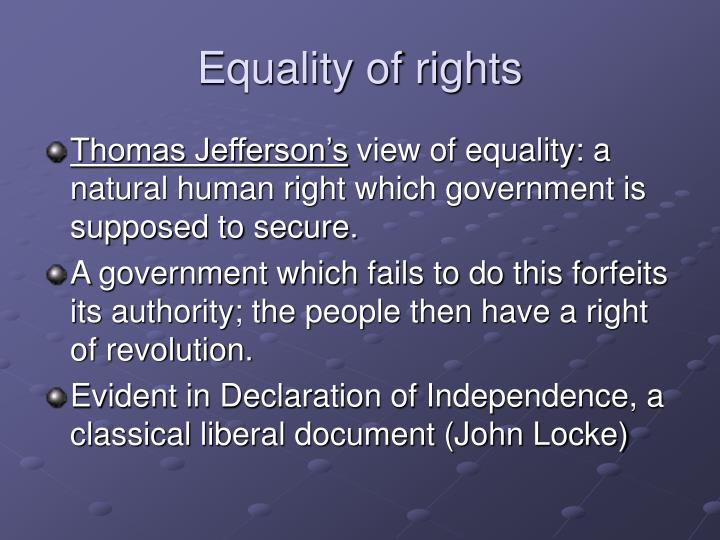 Equality of rights