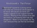 machiavelli s the prince