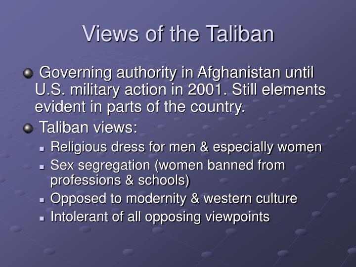 Views of the Taliban