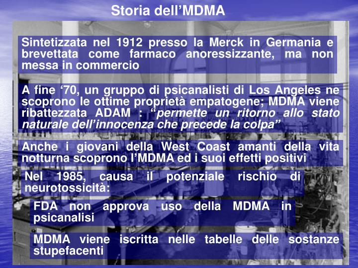 Storia dell'MDMA