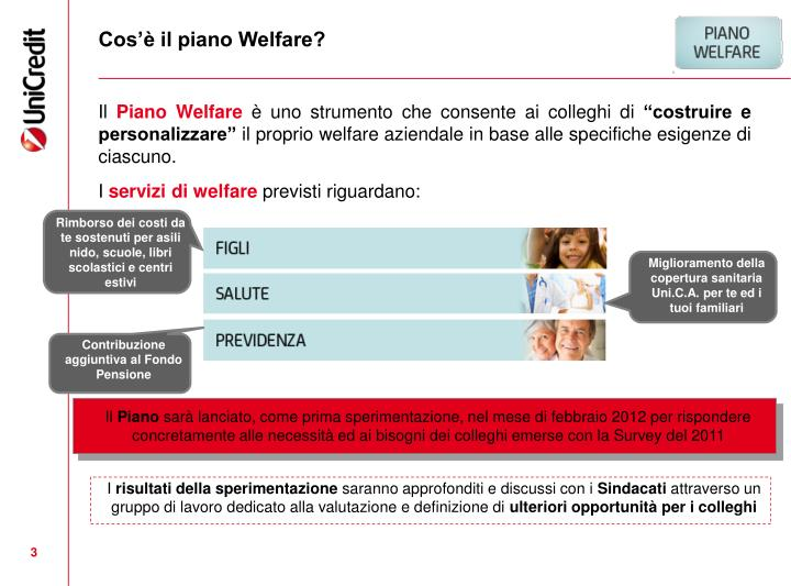 Cos il piano welfare