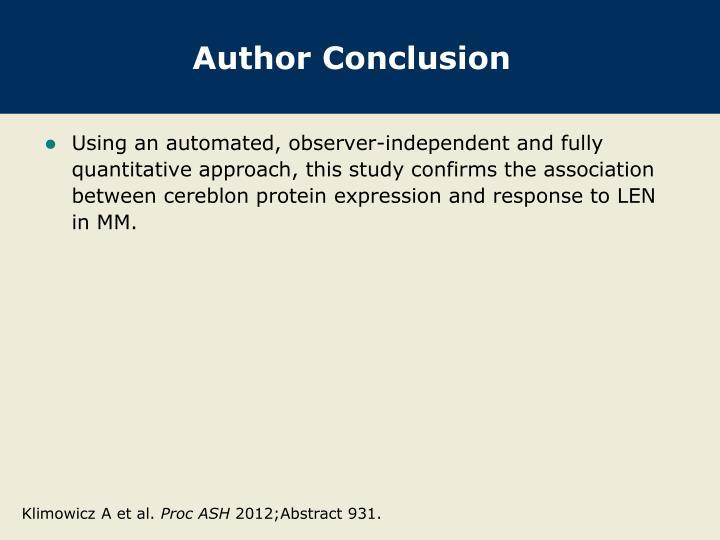 Author Conclusion