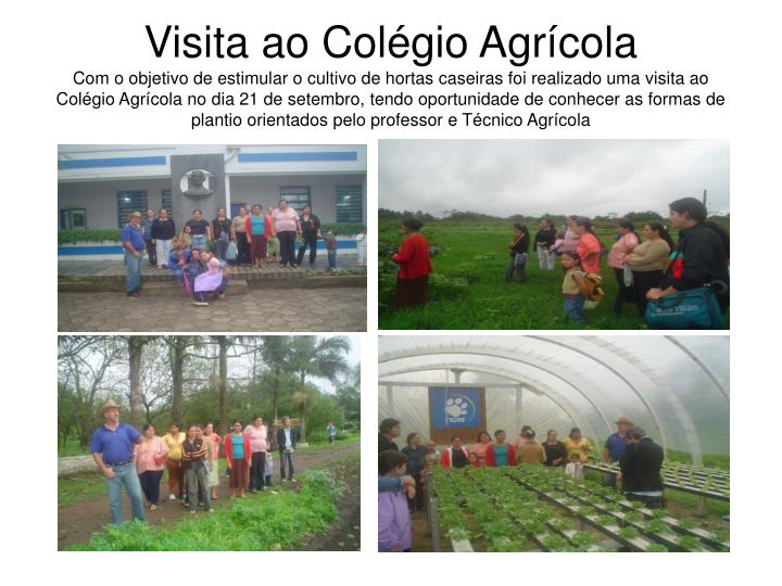 Visita ao Colégio Agrícola