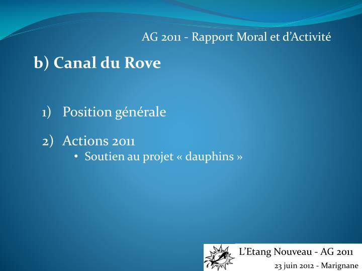 AG 2011 - Rapport Moral et d'Activité