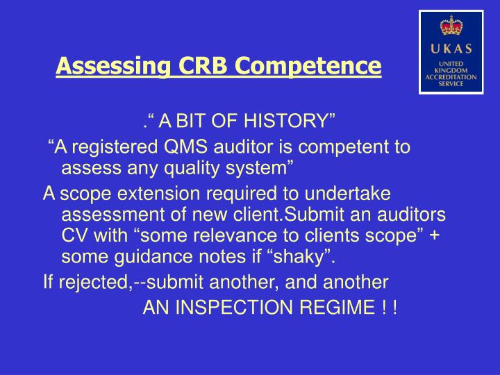 Assessing crb competence2