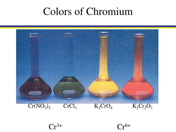 Colors of Chromium