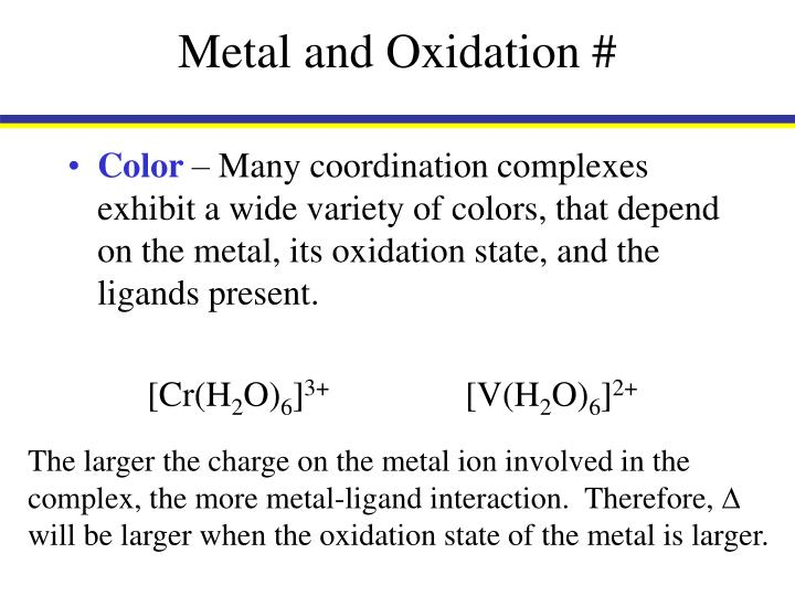 Metal and Oxidation #