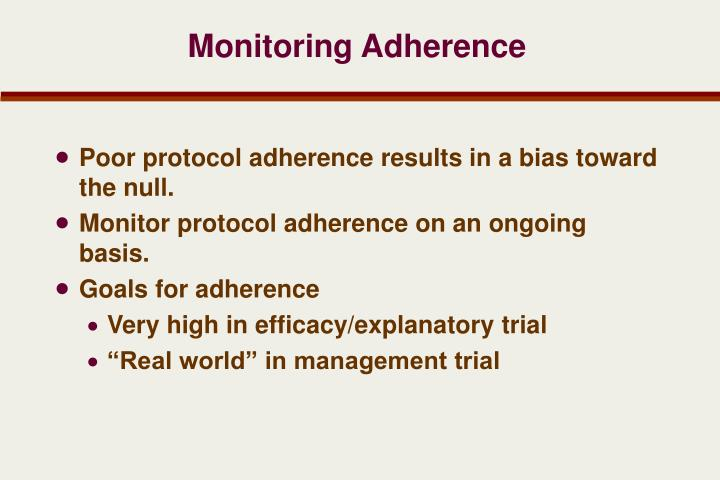 Monitoring Adherence