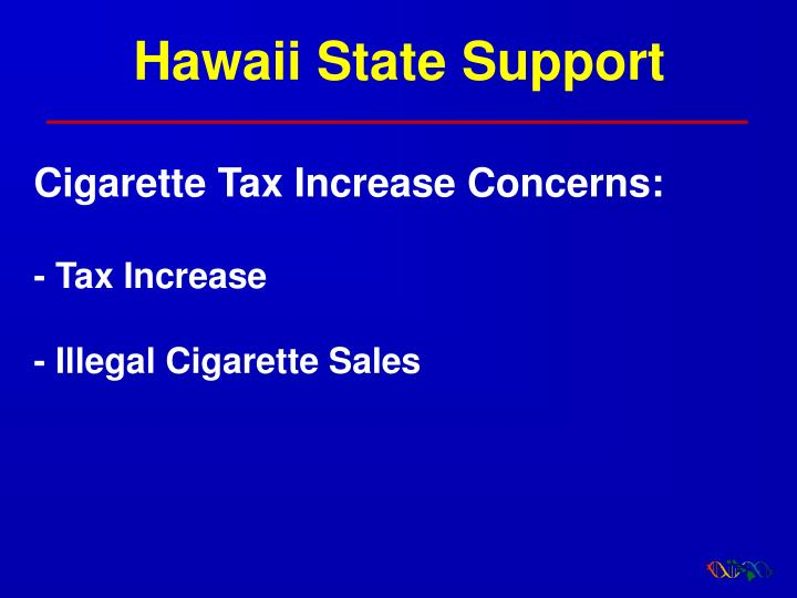 Hawaii State Support