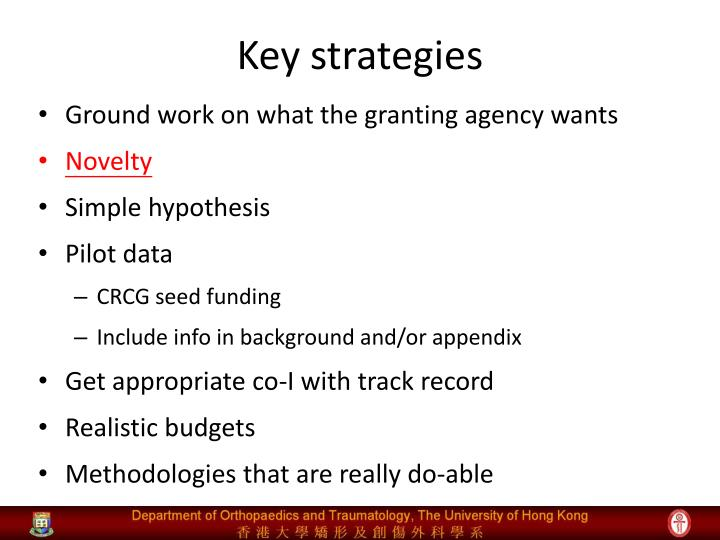 Key strategies
