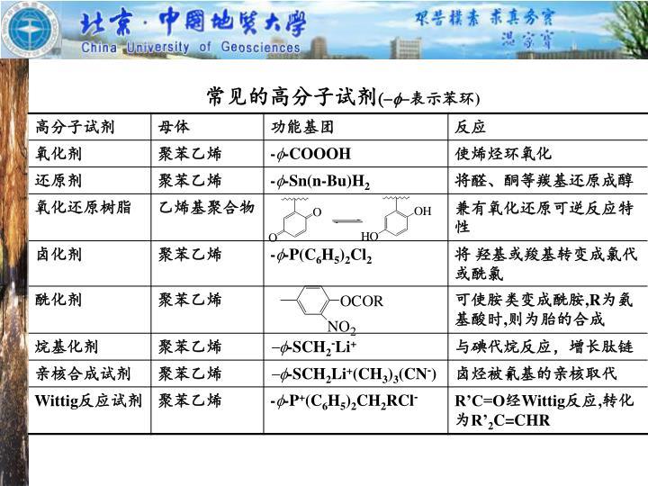 常见的高分子试剂