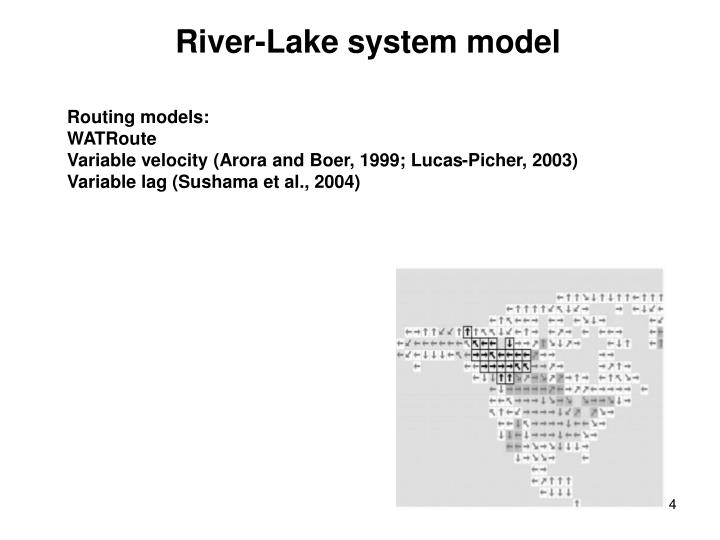 River-Lake system model