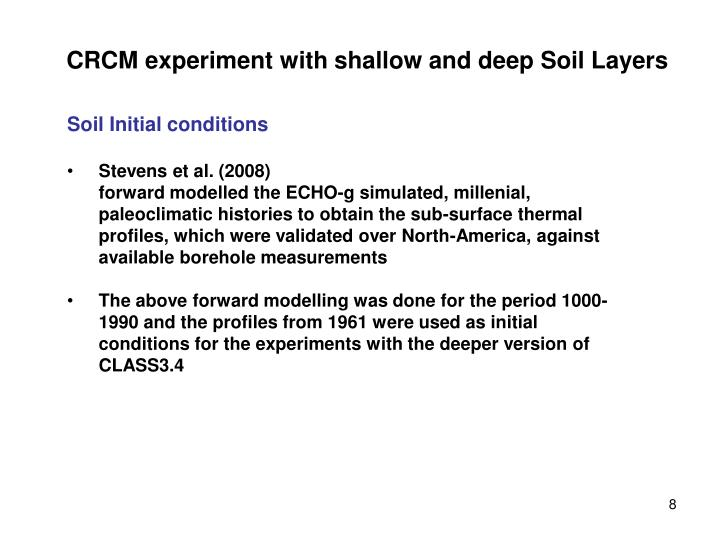 CRCM experiment with shallow and deep Soil Layers