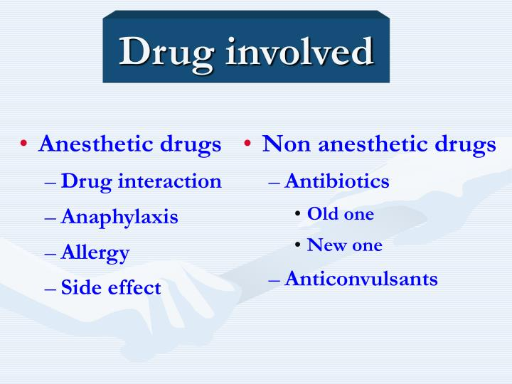 Anesthetic drugs
